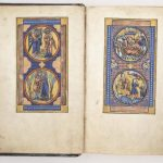 Free Library of Philadelphia Lewis Ms 185, The Lewis Psalter, fols. 2v-3r