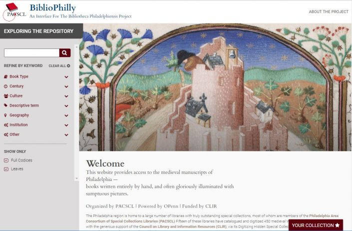 New BiblioPhilly interface, powered by the Penn Libraries