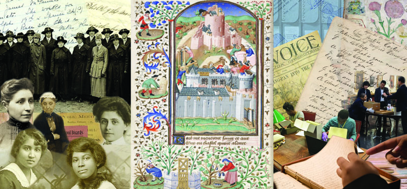 Montage of materials from BibliothecaPhiladelphiensis and the Philadelphia Area Archives Research Project